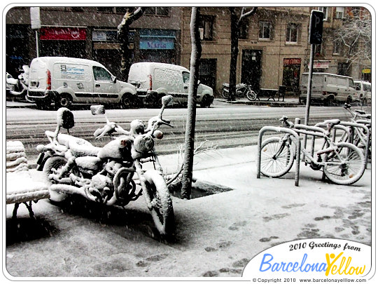Snow in Barcelona