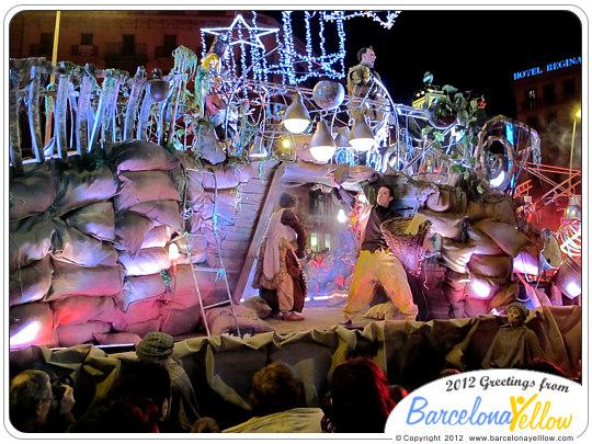 La Cabalgata de Reyes Magos - la carrossa del carbó