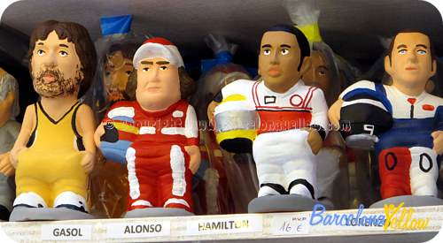 F1 drivers Caganer