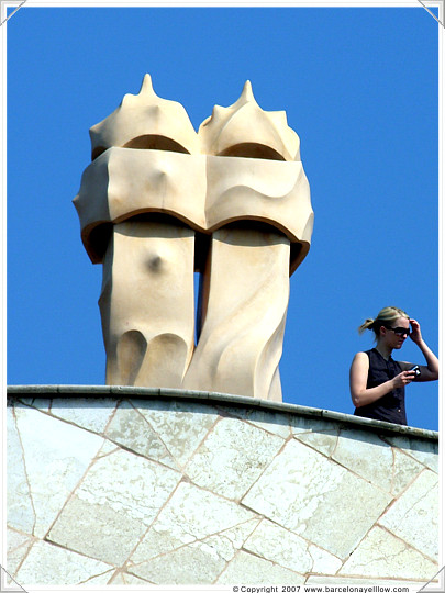 Casa Mila, La Pedrera by Gaudi in Barcelona