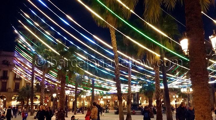 Christmas lights Plaça Reial Barcelona