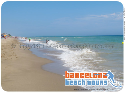 Gava Mar beach near Barcelona