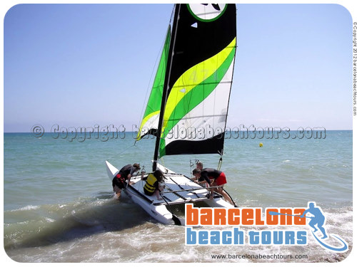 Sailing tours Barcelona Gava beach