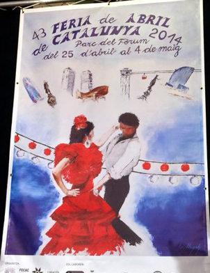 cartel Feria Abril Barcelona 2014 Elisenda Llonch
