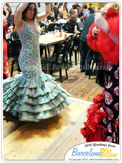 Sevillanas dancing Feria Abril Barcelona