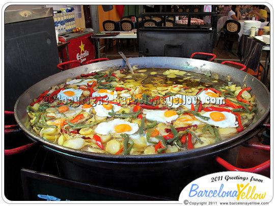 Feria abril Barcelona comida