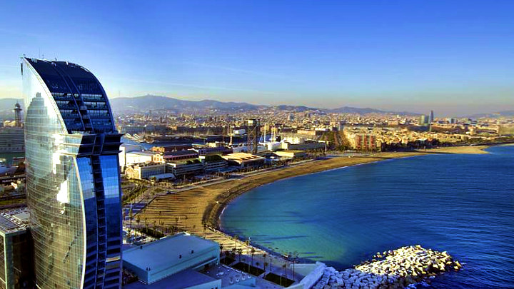 Barcelona 2017 luxury beach hotel w barcelona 39 la vela 39 for Piscine w barcelone