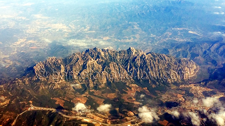 Aerial view of Montserrat mountain