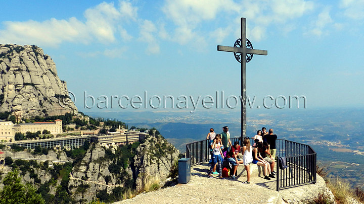 St. Michael's cross. Cruz de San Miguel at Montserrat