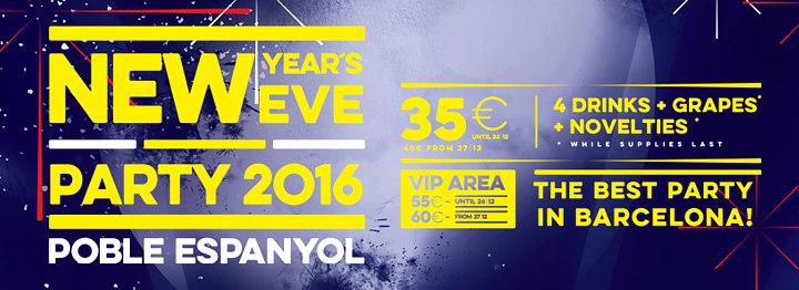 New Year Party Barcelona Poble Espanyol