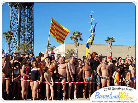 New Years Swim Barcelona. Primer Bany de L'Any