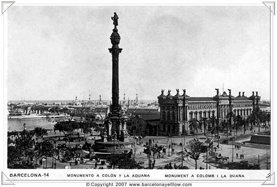 Barcelona old photo coloon