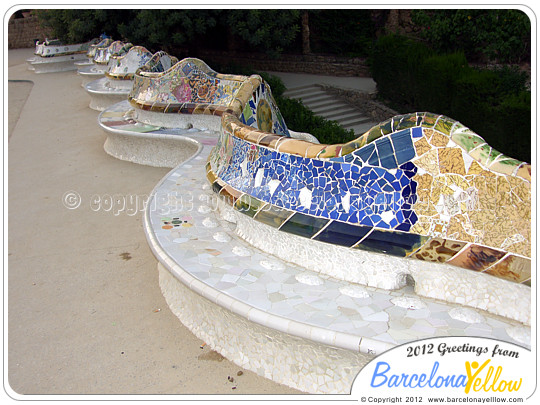 Serpent bench Barcelona Park Guell