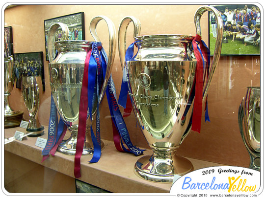 Barca museum at Camp Nou