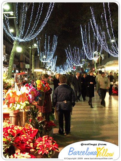 Christmas Barcelona La Rambla