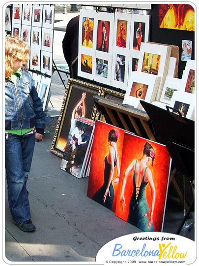 La Rambla art market