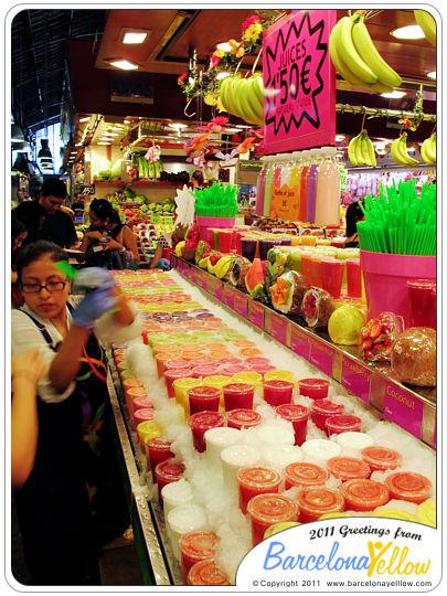 La Boqueria market smoothies
