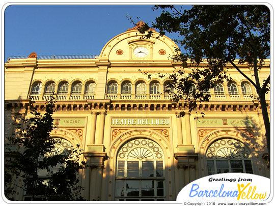 Gran Teatre del Liceu on La Rambla