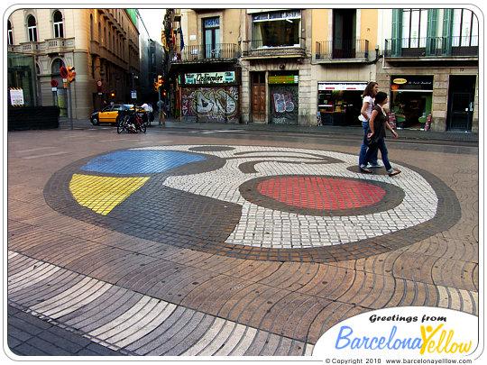La Rambla mosaic by Joan Miro