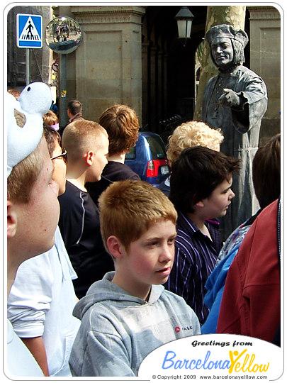 La Rambla statue