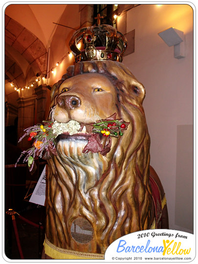 El Lle - the Lion - one of Barcelona's mythical beasts