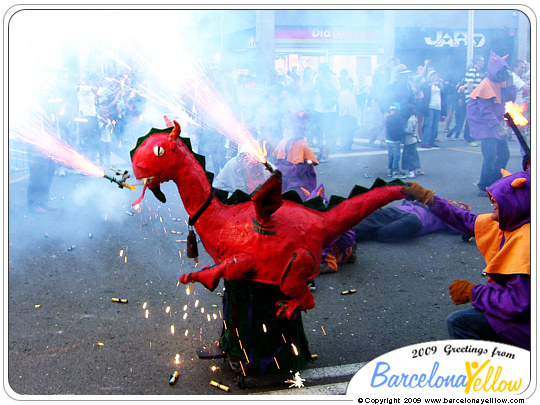 Merce correfoc dragon