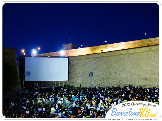 Summer open air cinema Montjuic