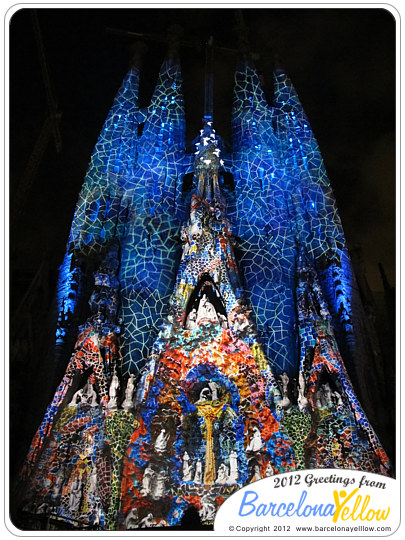 Light show Sagrada Famila Merce Festival 2012