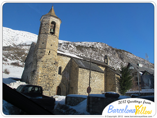 Romanesque church near Baqueira-Beret