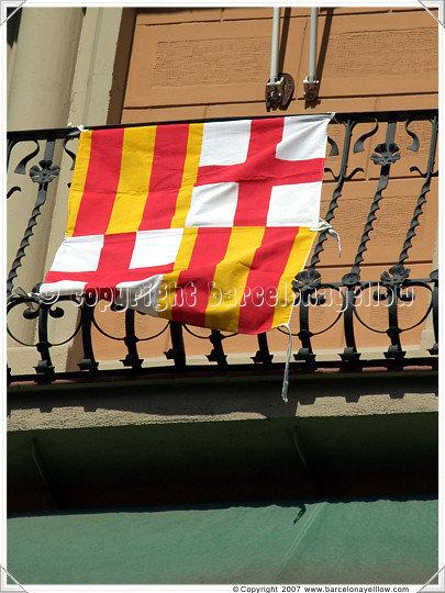 Barcelona Sant Jordi's day - St. George's day flag