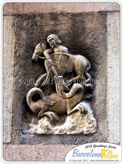 Barcelona Sant Jordi's day - St. George's day