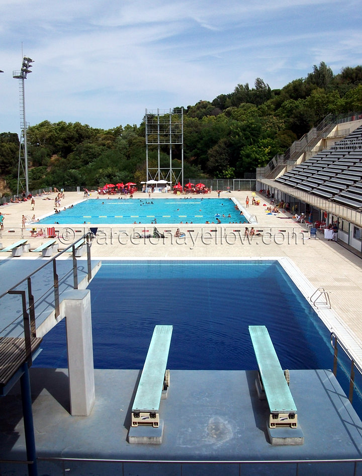 Public Swimming Pools With Diving Boards barcelona 2017 - olympic diving swimming pool montjuic