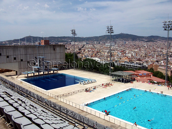 Diving_pool_barcelona_olympics Barcelona_olympic_diving_pools. High Dive At  Montjuic Olympic Diving Pool Barcelona_montjuic_pools