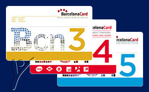 Barcelona Card city pass. 3, 4 or 5 day card
