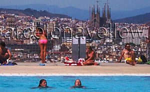Olympic diving swimming pool Montjuic
