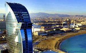 Luxury beach Hotel W  Barcelona