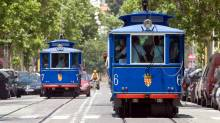 El Tramvia Blau - blue tram Barcelona - temporarily closed