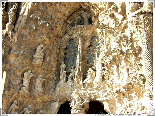 Close up of the nativity facade