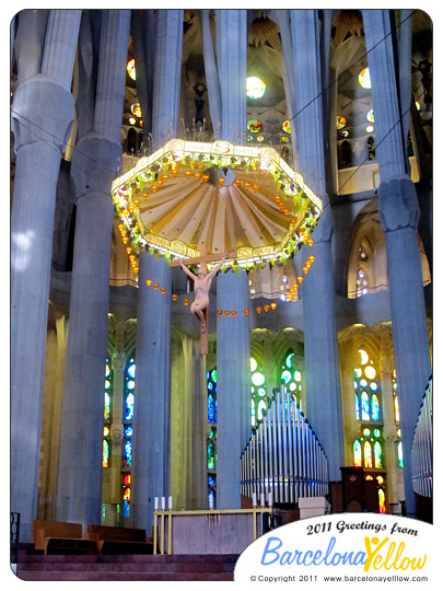 Interior of La Sagrada Familia Altar