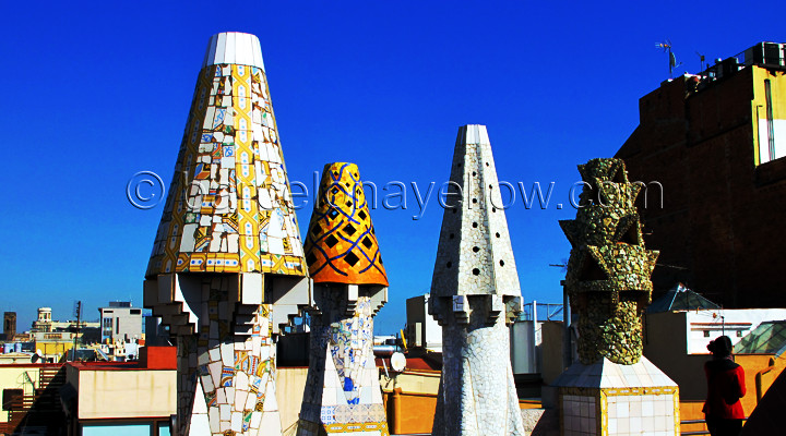 Modernist chimneys Barcelona