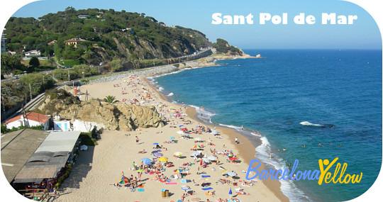 Beach Sant Pol De Mar North Of Barcelona