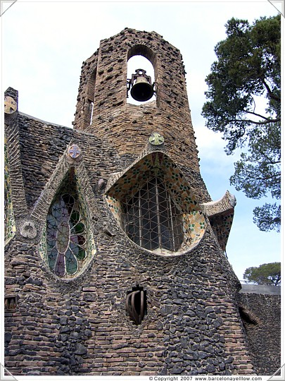 Tower at Gaudi's crypt - Colonia Guell