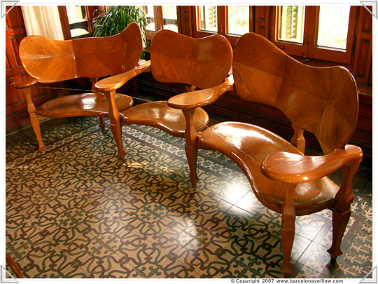 Furniture designed by Gaudi