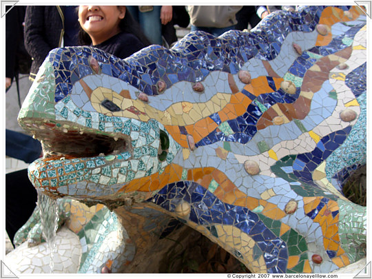 Dragon in Fountain of Park Guell entrance