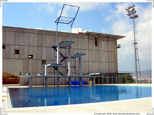 Diving boards Montjuic diving pool Barcelona