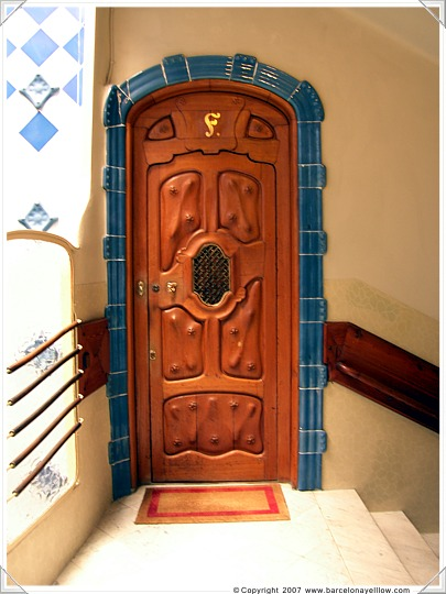Apartment door in Casa Batllo Barcelona