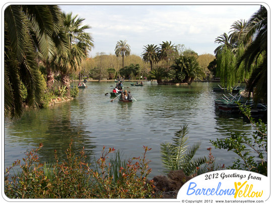 boating lake in Parc de la Ciutadella