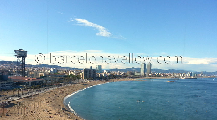 Barceloneta beach views from Hotel W
