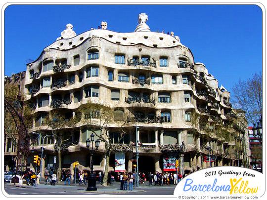 Barcelona 2017 pictures casa mila la pedrera by gaudi - Casa la pedrera gaudi ...