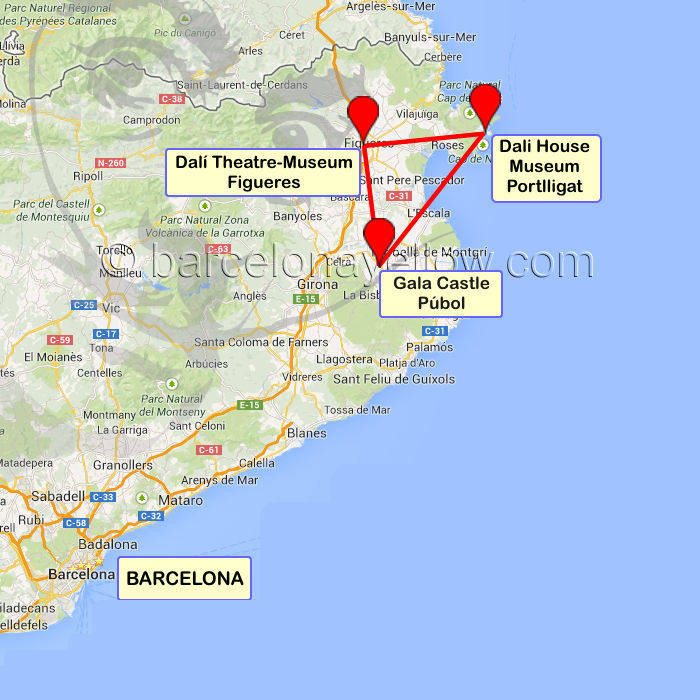 Map Of Spain Near Barcelona.Barcelona 2019 Salvador Dali Museum Near Barcelona